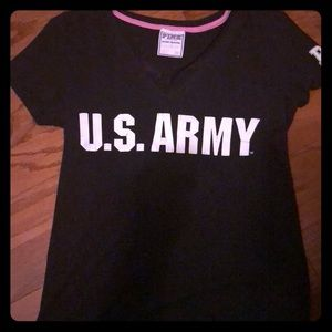 PINK Victoria's Secret Military Collection T-shirt